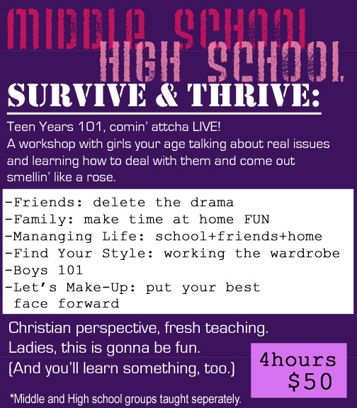 Survive and Thrive Class ad copy